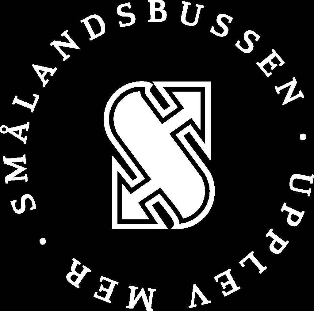 Smålandsbussen vit logotyp